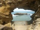 Plaży w Biarritz, skały