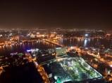 Wieczorny widok na wyspę i Kair ze szczytu Wieży Kairskiej