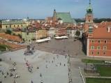 Plac Zamkowy, widok z tarasu widokowego Kościoła św. Anny