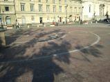 Układ słoneczny przed Pomnik Mikołaja Kopernika
