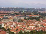 Hradczany w Pradze, widok z wieży widokowej na wzgórzu Petřína