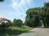Kościół Chrystusa Króla, z drogi z Fajsławic