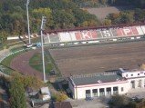 Stadion Polonii, widok z Intraco