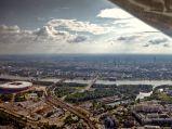 Stadion Narodowy w Warszawie, panorama Warszawy