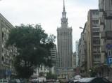 Pałac Kultury i Nauki, widok z ulicy Złotej