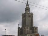 Pałac Kultury i Nauki, widok ze skrzyżowania z ulica Emili Plater