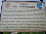 Tablica informacyjna przy Kopcu Unii Horodelskiej