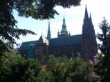 Katedra św. Wita w Pradze, widok z Ogrodów Królewskich