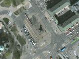 Pomnik czterech śpiących, zdjęcie satelitarne Googla