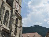 Czarny Kościół i napis Brasov