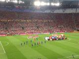 Stadion Miejski, pokaz przed meczem Polska-Czechy