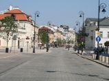 Krakowskie Przedmieście, przy Pałacu Prezydenckim