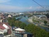 Most Pokoju, Tibilisi, widziany z kolejki linowej