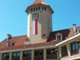 Wieża z zegarem w Dom Polonii w Pułtusku
