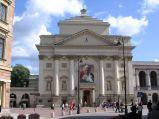 Kościół św. Anny, widok z ulicy Miodowej
