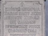 Tablica kapliczki w Woli Korybutowej