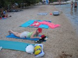 Żwirowa plaża w Grebasticy