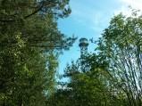 Wieża widziana ze ścieżki