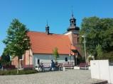 Kościół św. Jana, widok z bulwarów we Włocławku