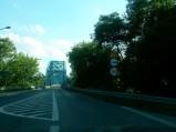 Dojazd do mostu od strony Nowego Dworu Mazowieckiego