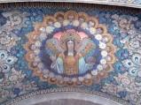 Malowidła nad wejściem do Bazyliki w Czerwińsku nad Wisłą