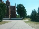 Dojazd do kościoła w Dzierżeninie