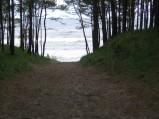 Dojście do morza w Kątach Rybackich