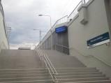 Schody na perony Warszawa Stadion