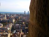 Barcelona oraz morze widziane z wieży Sagrada Familia