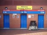 Powitanie polskich kibiców na Old Trafford
