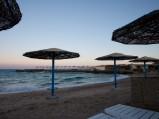 Parasole, plaża w Hurghadzie