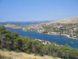 Zatoka w Grebasticy, widok z drogi do Primosten