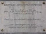 Tablica informacyjna, Krzyż na Rewskim Szperku w Rewie