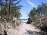Plaża w Karwii, przejście