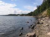 Gdynia, klify, widok w kierunku molo w Gdyni Orłowie