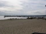 Molo w Gdyni Orłowie, widok z plaży