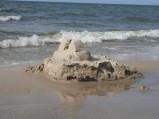 Zamek z piasku późnym popołudniem :)