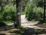 Punkt na szlaku rowerowym na plaże w Lubiatowie