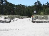 Wejście nr 38 na plaże w Lubiatowie