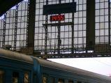 Zegar na peronie na Dworcu we Lwowie