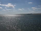 Plaża we Władysławowie, po prawej stronie portu