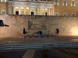 Maszerujący żołnierze, Parlament, Ateny
