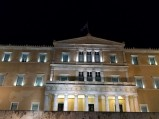 Parlament, nocą Ateny