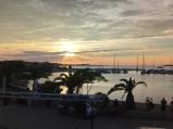 Port, zachód słońca w Bibinje