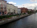 Linoskoczek przechodzący przez rzekę w Bydgoszczy