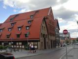 Spichlerze od ulicy Grodzkiej w Bydgoszczy