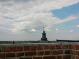 Widok z zamku, iglica kościół w Czersku