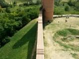 Mur do Baszty Południowej na Zamku W Czersku