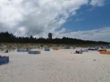 Widok z plaży, Rybaczówka w Dębkach