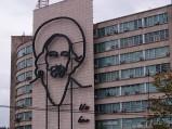 Wizerunek Camilo Cienfuegos na Placu Rewolucji w Hawanie
